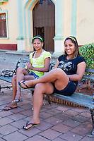 Cuba, Trinidad.  Two Young Women.