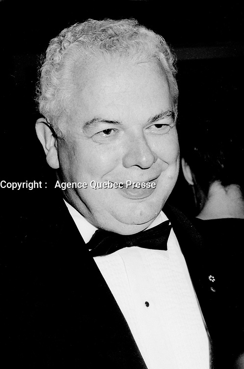 Montreal, CANADA, August 18, 1985  File Photo of Bernard Lamarre when he was President of SNC-Lavallin.<br /> <br /> Lamarre commented this February 2015 on the criminal fraud accusations against the company he founded.<br /> <br /> <br /> Photo : Agence Quebec Presse - Pierre Roussel