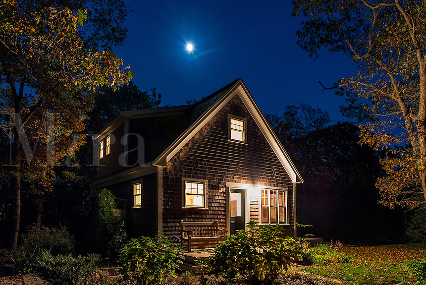 Cozy bungalow at night., Martha's Vineyard,