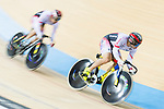 The team of Japan with Yoshitaku Nagasako, Yudai Nitta and Kazunari Watanabe compete in Men's Team Sprint - 1st Round match as part of the 2017 UCI Track Cycling World Championships on 12 April 2017, in Hong Kong Velodrome, Hong Kong, China. Photo by Victor Fraile / Power Sport Images