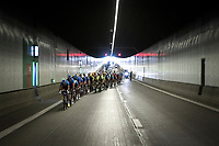 Team Total Direct Energie leading the race through a Tunnel under the Harbour/Port of Antwerp<br /> <br /> Antwerp Port Epic 2019 <br /> One Day Race: Antwerp > Antwerp 187km<br /> <br /> ©kramon