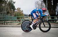 Eventual GC winner Tadej Pogačar (SVN/UAE-Emirates) in the final stage 7 (ITT) from San Benedetto del Tronto to San Benedetto del Tronto (10.1km)<br /> <br /> 56th Tirreno-Adriatico 2021 (2.UWT) <br /> <br /> ©kramon