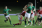Ireland centre Tom Daly forces his way over to score a try..Under 20 Six Nations.Wales v Ireland.Eirias - Colwyn Bay.01.02.13.©Steve Pope