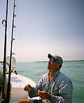 Capt. Bucky Dennis guides fisherman to Boca Grande inlet on the Gulf of Mexico in Central Florida's west coast. Bucky uses stingrays to attract either the Bull Shark of the Hammerhead to his hooks. He has caught some of the biggest sharks in its weight class.