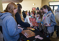 Stanford, CA - February 9, 2020: Fans, Women's Lacrosse at Maples Pavilion. Stanford Women's Basketball defeated the USC Trojans 79-59 on their Senior Night and celebration of National Girls and Women in Sports Day.