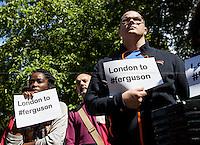 "17.08.2014 - ""London to #Ferguson"" - Vigil outside the US Embassy"