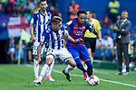 Kiko Femenia of Club Deportivo Alaves holds off pressure from  Neymar Santos Jr of FC Barcelona during the match of  Copa del Rey (King's Cup) Final between Deportivo Alaves and FC Barcelona at Vicente Calderon Stadium in Madrid, May 27, 2017. Spain.. (ALTERPHOTOS/Rodrigo Jimenez)