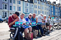UK Weather: Aberystwyth, Ceredigion, West Wales Thursday 12th May 2016. <br />