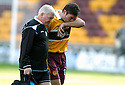 09/09/2006        Copyright Pic: James Stewart.File Name : jspa03_motherwell_v_ict.JIM PATERSON GOES OFF AFTER TWO HEAVY HEAD KNOCKS.........Payments to :.James Stewart Photo Agency 19 Carronlea Drive, Falkirk. FK2 8DN      Vat Reg No. 607 6932 25.Office     : +44 (0)1324 570906     .Mobile   : +44 (0)7721 416997.Fax         : +44 (0)1324 570906.E-mail  :  jim@jspa.co.uk.If you require further information then contact Jim Stewart on any of the numbers above.........