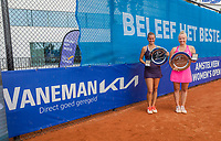 Amstelveen, Netherlands, 10 Juli, 2021, National Tennis Center, NTC, Amstelveen Womans Open, Singles final:  Quirine Lemoine (NED) and Yana Mordeger (GER) (R)<br /> Photo: Henk Koster/tennisimages.com