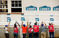 10/05/09: Photography of Lowe's associates at work at the Shiloh Rosenwald School project in Notasulga, Alabama.