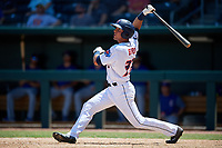Jacksonville Jumbo Shrimp Corey Bird (32) at bat during a Southern League game against the Tennessee Smokies on April 29, 2019 at Baseball Grounds of Jacksonville in Jacksonville, Florida.  Tennessee defeated Jacksonville 4-1.  (Mike Janes/Four Seam Images)