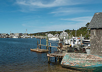 Quaint fishing village of Menemsha, Cillmark, Martha's Vineyard, Massachusetts