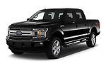 2018 Ford F-150 XLT 4wd SuperCrew 4 Door Pick Up angular front stock photos of front three quarter view