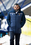 St Johnstone v Celtic…14.02.21   McDiarmid Park   SPFL<br />Saints manager Callum Davidson<br />Picture by Graeme Hart.<br />Copyright Perthshire Picture Agency<br />Tel: 01738 623350  Mobile: 07990 594431