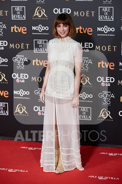 Leticia Dolera attends to 33rd Goya Awards at Fibes - Conference and Exhibition  in Seville, Spain. February 02, 2019. (ALTERPHOTOS/A. Perez Meca)