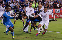 SANTA CLARA, CA - July 30, 2011: The San Jose Earthquakes played DC United at Buck Shaw Stadium on July 30th, 2011.