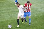 Atletico de Madrid's Koke Resurrecccion (r) and Sevilla FC's Stevan Jovetic during La Liga match. March 19,2017. (ALTERPHOTOS/Acero)