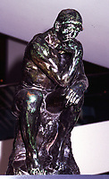 Montreal, 1999-07-21. A small copy of Rodin's The Thinker (Le penseur) can be found at the Museum of Fine Arts of Montreal (Quebec, Canada).<br /> Photo :  (c) Pierre Roussel, 1999