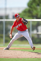 Boston Red Sox pitcher Stephen Nogosek (54) during an Instructional League game against the Minnesota Twins on September 24, 2016 at CenturyLink Sports Complex in Fort Myers, Florida.  (Mike Janes/Four Seam Images)