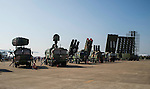 Chinese-made surface-to-air missile systems stand on display at the China International Aviation & Aerospace Exhibition (Airshow China 2016) at China International Aviation Exhibition Center on 02 November 2016, in Zhuhai, China. Photo by Marcio Machado / Power Sport Images