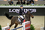 Jessica Mendoza on Wan Architect competes during Longines Speed Challenge at the Longines Masters of Hong Kong on 20 February 2016 at the Asia World Expo in Hong Kong, China. Photo by Li Man Yuen / Power Sport Images