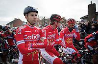 Nacer Bouhanni (FRA/Cofidis) & teammates at the start<br /> <br /> 67th Kuurne-Brussels-Kuurne 2015