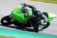 29th March 2021; Barcelona, Spain;  Superbikes, WorldSSP300 , day 1 testing at Circuit Barcelona-Catalunya; picture show, Joel Romero (ARG) riding Kawasaki Ninja 400 from SMW Racing