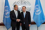 Photo Opportunity:  The Secretary-General with H.E. Sergey V. Lavrov, Foreign Minister, RUSSIAN FEDERATION