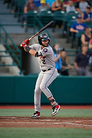Tri-City ValleyCats Joe Perez (2) at bat during a NY-Penn League game against the Brooklyn Cyclones on August 17, 2019 at MCU Park in Brooklyn, New York.  Brooklyn defeated Tri-City 2-1.  (Mike Janes/Four Seam Images)