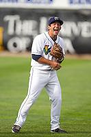 Cedar Rapids Kernels second baseman Joel Licon #41 laughs prior to a game against the Kane County Cougars at Veterans Memorial Stadium on June 8, 2013 in Cedar Rapids, Iowa. (Brace Hemmelgarn/Four Seam Images)