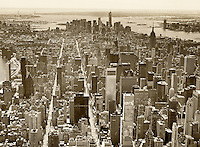 aerial photograph Second and Third Avenues, midtown Manhattan, New York City
