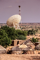 Niger, West Africa.  Satellite Dish Transmitting Niger's International Telephone Calls.