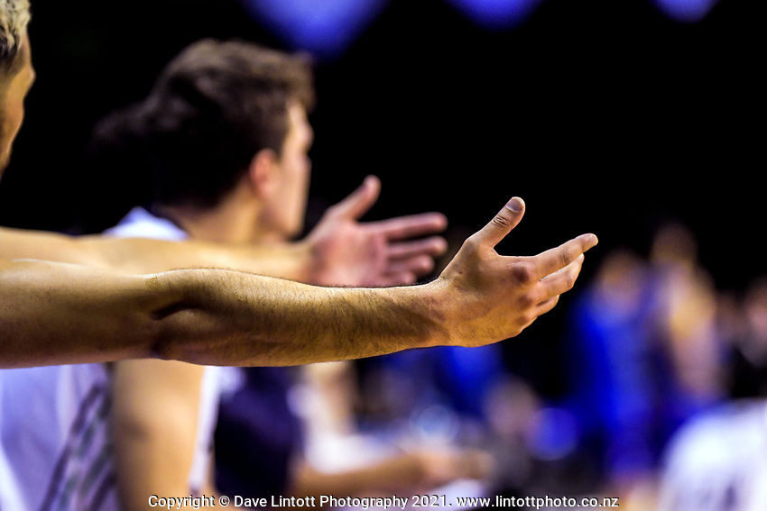 Action from the National Basketball League match between Wellington Saints and Auckland Huskies at TSB Bank Arena in Wellington, New Zealand on Friday, 28 May 2021. Photo: Dave Lintott / lintottphoto.co.nz