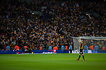 Bradford City 0 Swansea City 5, 24/02/2013. Wembley Stadium, Capital One Cup Final. Gary Jones acknowledges the Bradford support. Photo by Paul Thompson.