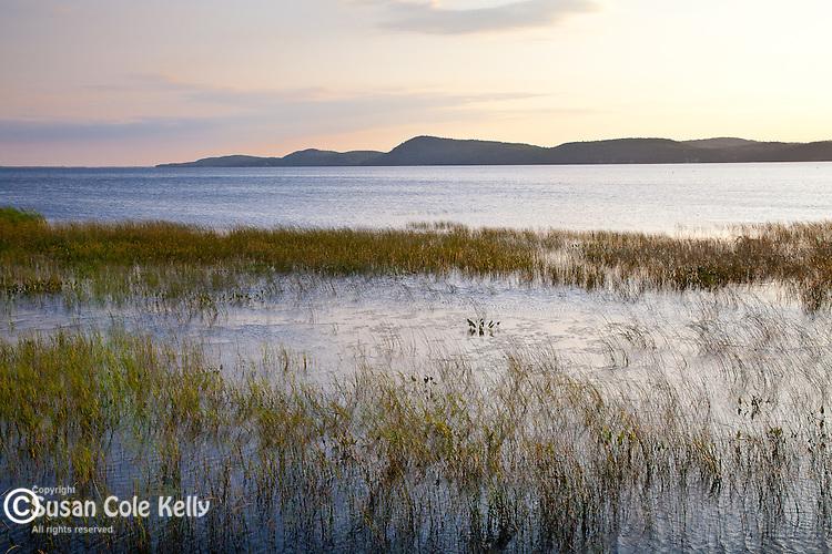 Sunrise at Sandbar National Wildflife Area on Lake Champlain, Milton, VT, USA