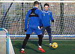St Johnstone Training…. 06.01.21<br />Scott Tanser pictured with Jamie McCart during training at McDiarmid Park ahead of Saturday's game against local rivals Dundee Utd.<br />Picture by Graeme Hart.<br />Copyright Perthshire Picture Agency<br />Tel: 01738 623350  Mobile: 07990 594431