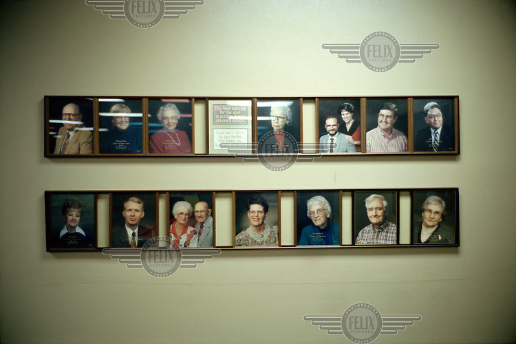 Photographs of members in a Christian society.