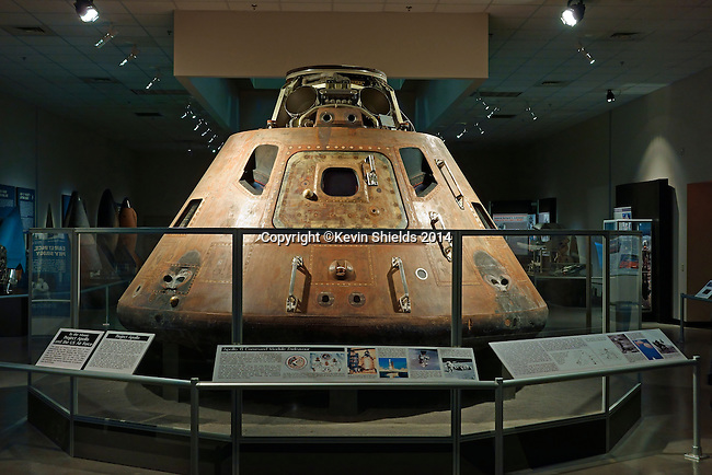 Apollo 15 Command Module Endeaver in the Missile and Space Gallery at the National Museum of the United States Air Force, Dayton, Ohio, USA