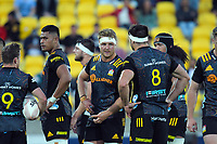 Chiefs' Sam Cane (centre) during the Super Rugby Aotearoa match between the Hurricanes and Chiefs at Sky Stadium in Wellington, New Zealand on Saturday, 20 March 2020. Photo: Dave Lintott / lintottphoto.co.nz