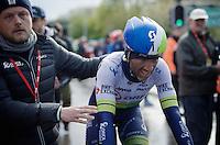 Michael Albasini (SUI/Orica-GreenEDGE) after finishing an unfortunate 2nd<br /> <br /> 102nd Liège-Bastogne-Liège 2016