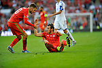 EURO 2016 QUALIFYING: WALES V ISRAEL AT CARDIFF CITY STADIUM : <br /> Gareth Bale of Wales is helped to his feet by Aaron Ramsey.<br /> <br /> EDITORIAL USE ONLY.