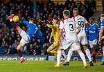 04.03.2020: Rangers v Hamilton: Ianis Hagi tries a cheeky overhead shot