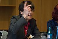 """Die Petition sog. """"Hartz 4-Rebellin"""" Inge Hannemann mit der Forderung nach ersatzloser Streichung der Sanktionen gegen Empfaenger von """"Hartz 4"""" wurde am Montag den 17. Maerz 2014 in der ersten Sitzung des Petitionsausschuss in der Legislaturperiode 2014 behandelt.<br />Aufgrund ihrer Kritik an der Sanktions-Praxis der Jobcenter wurde sie von der Hamburger Bundesagentur fuer Arbeit von ihrer Arbeit suspendiert. Dagegen klagt Hannemann vor dem Arbeitsgericht.<br />Im Bild: Inge Hannemann vor der Sitzung des Petitionsausschuss in einem Pressegespraech.<br />17.3.2014, Berlin<br />Copyright: Christian-Ditsch.de<br />[Inhaltsveraendernde Manipulation des Fotos nur nach ausdruecklicher Genehmigung des Fotografen. Vereinbarungen ueber Abtretung von Persoenlichkeitsrechten/Model Release der abgebildeten Person/Personen liegen nicht vor. NO MODEL RELEASE! Don't publish without copyright Christian-Ditsch.de, Veroeffentlichung nur mit Fotografennennung, sowie gegen Honorar, MwSt. und Beleg. Konto:, I N G - D i B a, IBAN DE58500105175400192269, BIC INGDDEFFXXX, Kontakt: post@christian-ditsch.de]"""