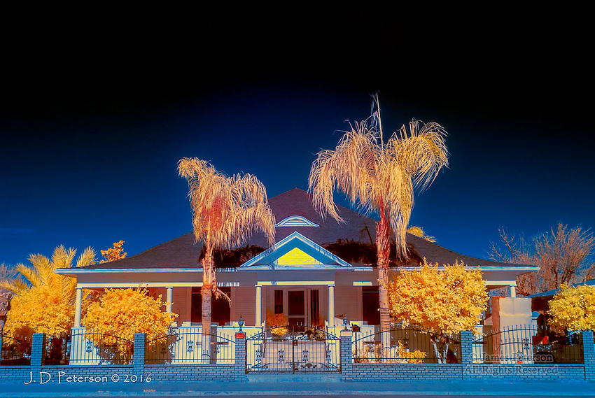 A Touch of Victorian, Coalingua, California (Infrared) © 2016 James D Peterson