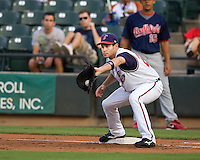Gall, John 4664.jpg.  PCL baseball featuring the Memphis Redbirds at Round Rock Express at Dell Diamond on August 25th 2009 in Round Rock, Texas. Photo by Andrew Woolley.