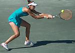 Andreea Mitu (ROU) loses to Madison Keys (USA) 6-2, 6-0 at the Family Circle Cup in Charleston, South Carolina on April 9, 2015.
