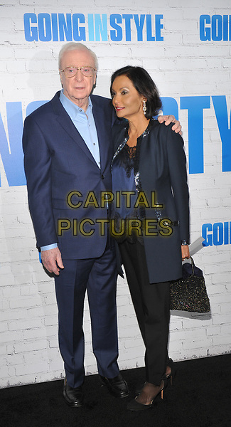 NEW YORK, NY - March 30: Michael Caine, Shakira Caine attends the 'Going In Style' New York Premiere at SVA Theatre on March 30, 2017 in New York City. <br /> CAP/MPI/JP<br /> ©JP/MPI/Capital Pictures