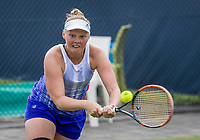 Den Bosch, Netherlands, 13 June, 2017, Tennis, Ricoh Open, Women's doubles: Kelly Versteeg (NED) <br /> Photo: Henk Koster/tennisimages.com
