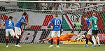 22.08.2019 Legia Warsaw v Rangers: Allan McGregor saves in the first half